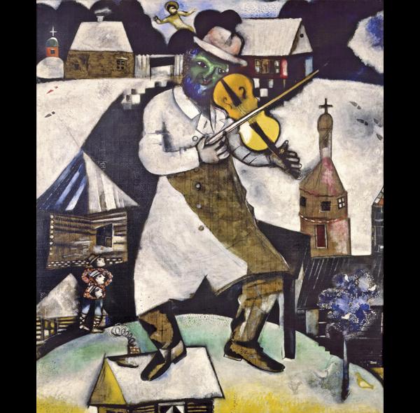 El violonista de Marc Chagall