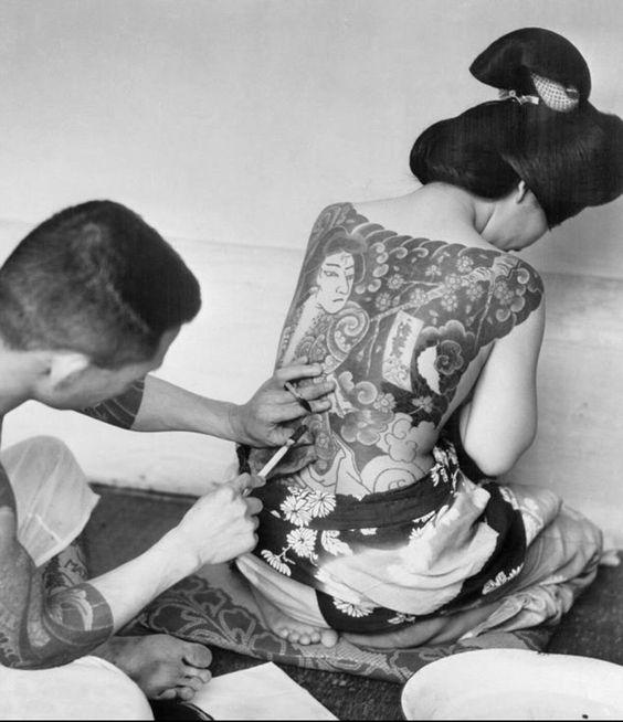 Japón es una cultura que encontró el los tatuajes una forma de arte