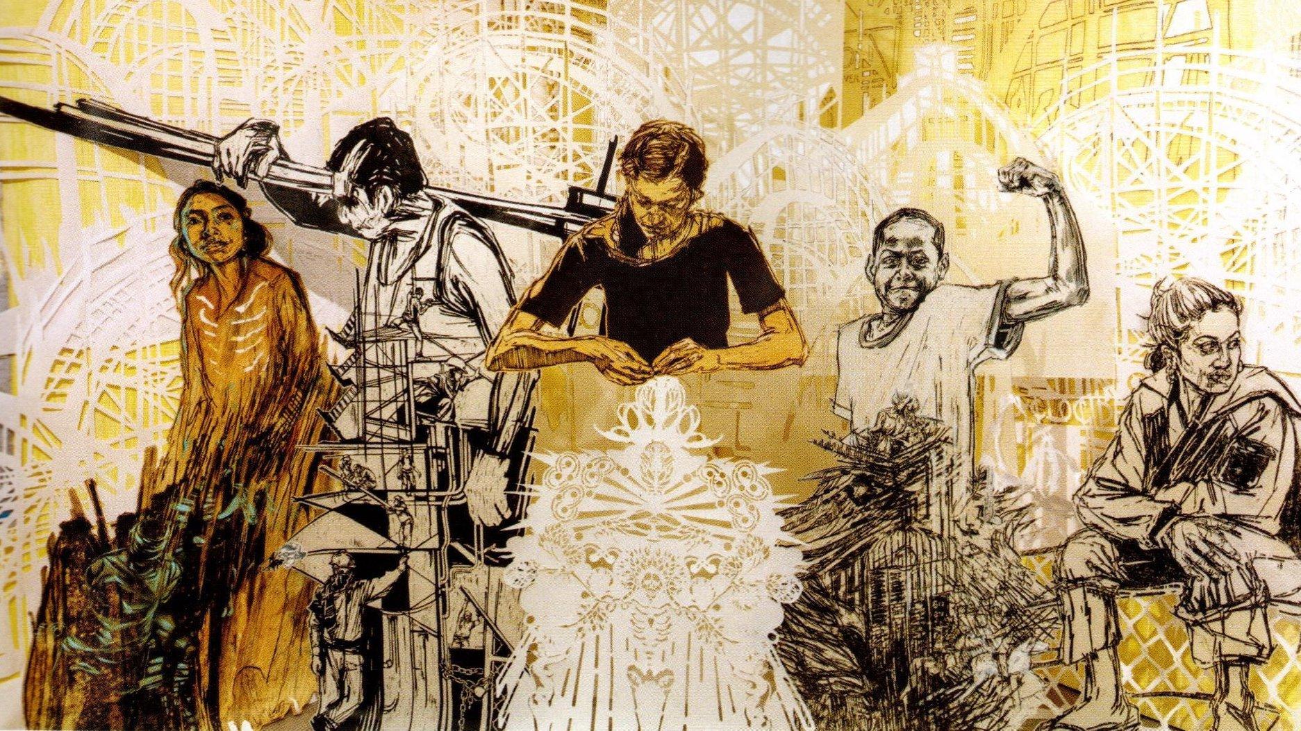 Stedelijke kunst in Fluctuart, het eerste zwevende stedelijke kunstcentrum