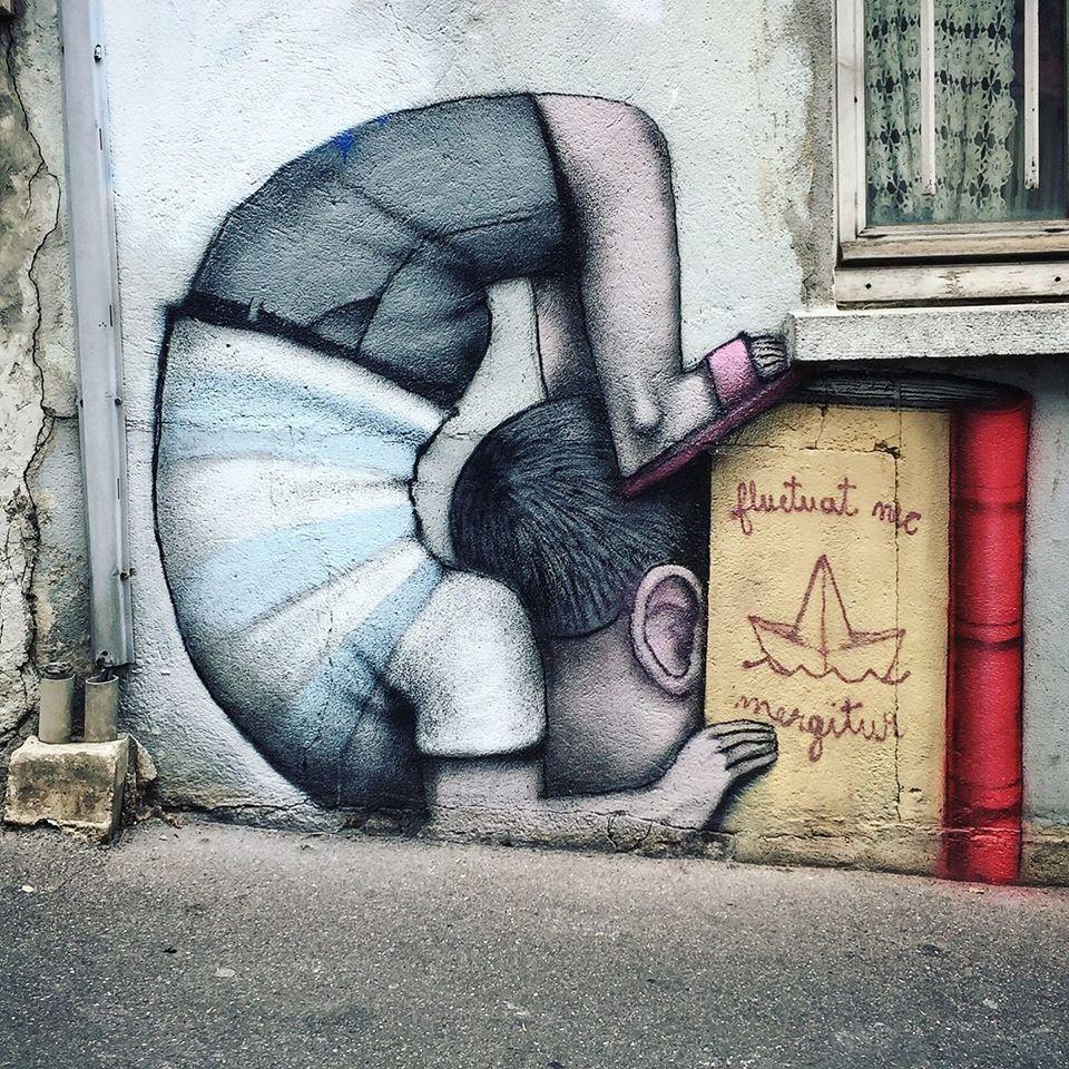 Graffiti in het Fluctuart-centrum