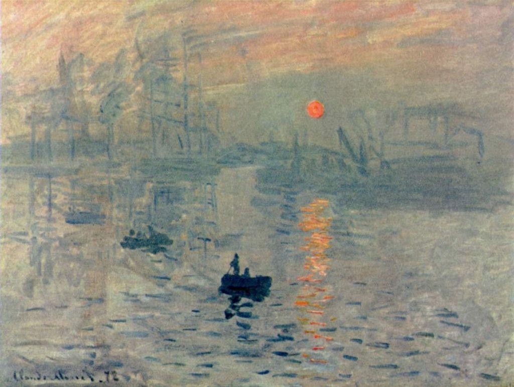 Impresión, sol naciente de Claude Monet