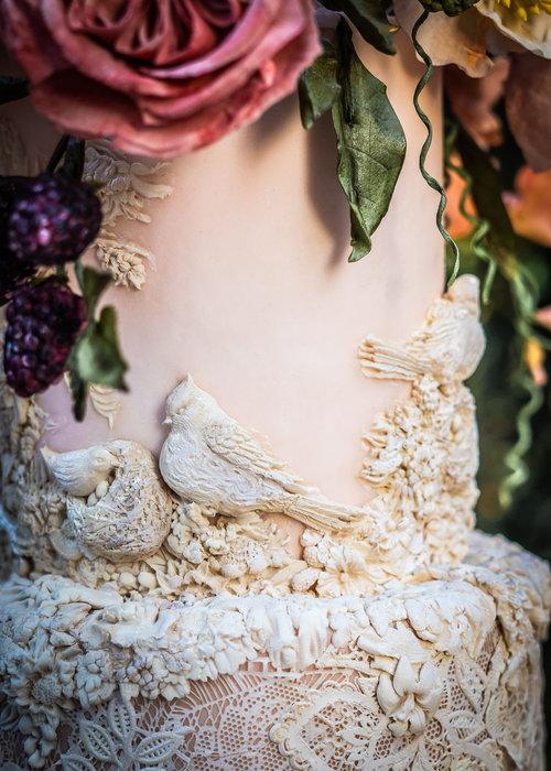 Detail van de taarten Julie Simon Cakes