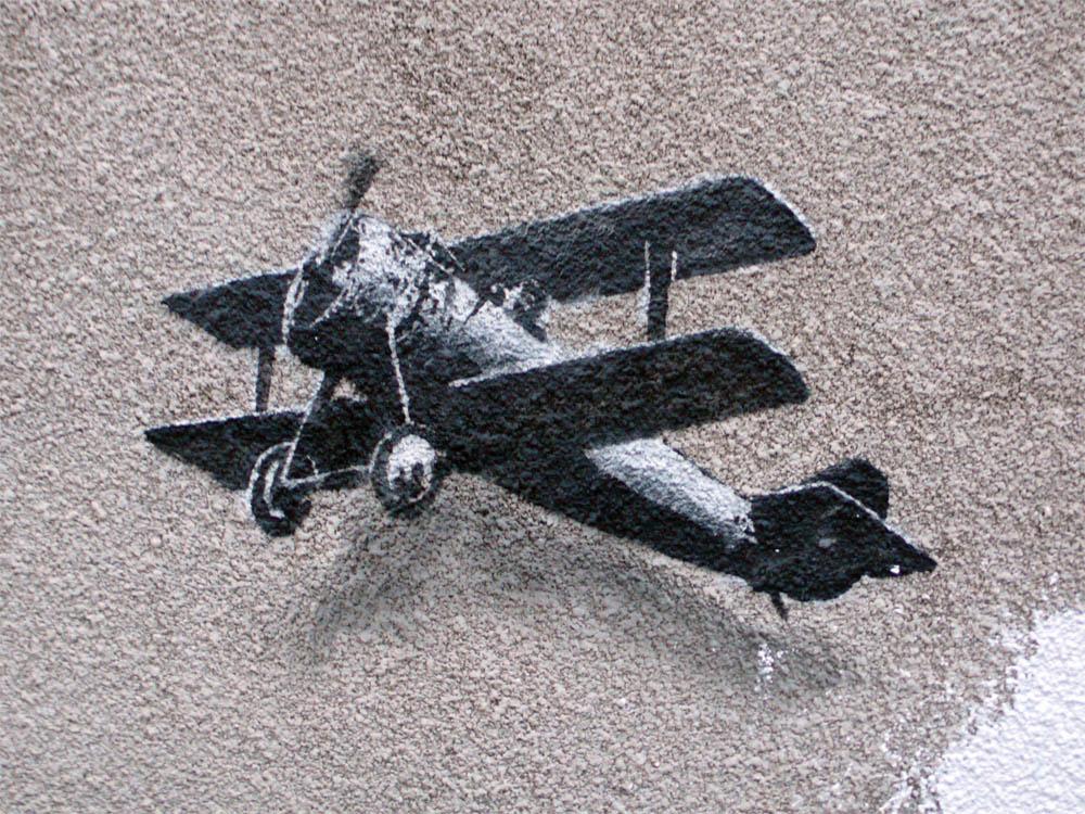 La obra de Banksy decora las calles