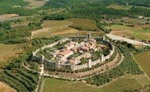 Monteriggioni in Toscane