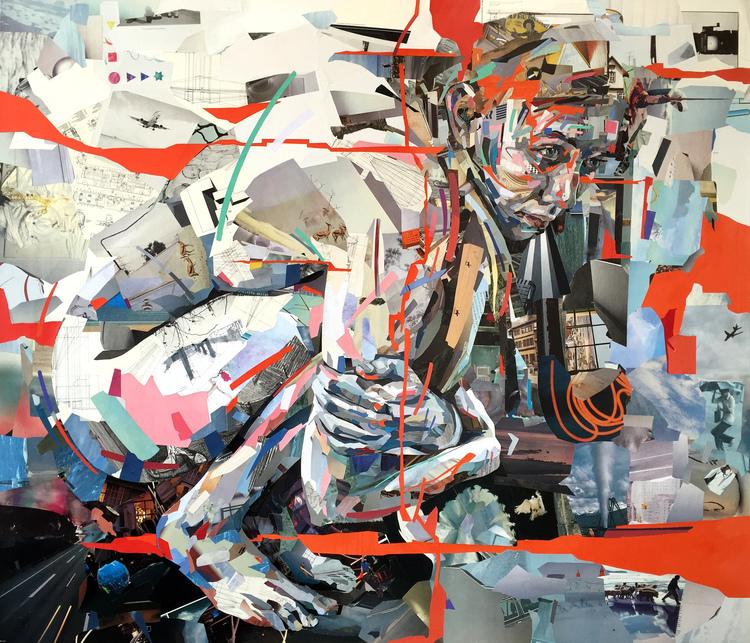 Collage Nypotenue door Patrick Bremer