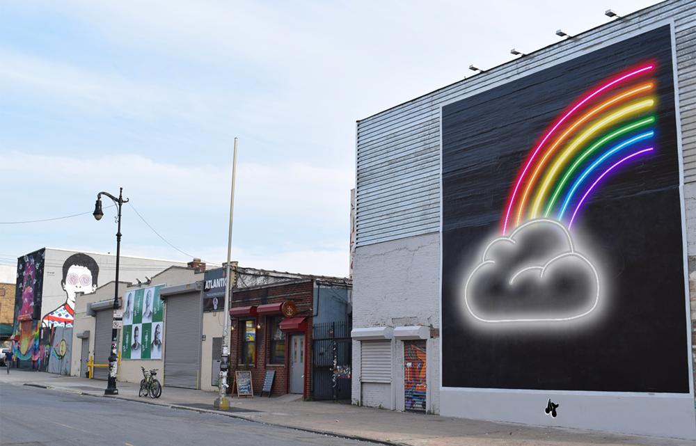 Rainbow wall di Adam Fujita