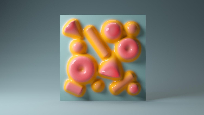 Firkant av farger av den argentinske kunstneren Santi Zoraidez
