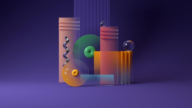 Santi Zoraidez en zijn ontwerpen van gekleurde hoeken