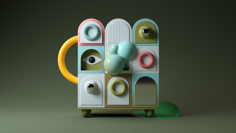 Santi Zoraidez ontwerpen van gekleurde hoeken