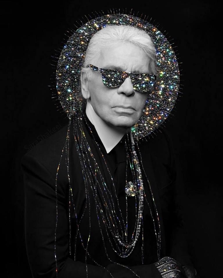Ο Karl Lagerfeld από τη Sara Shakeel