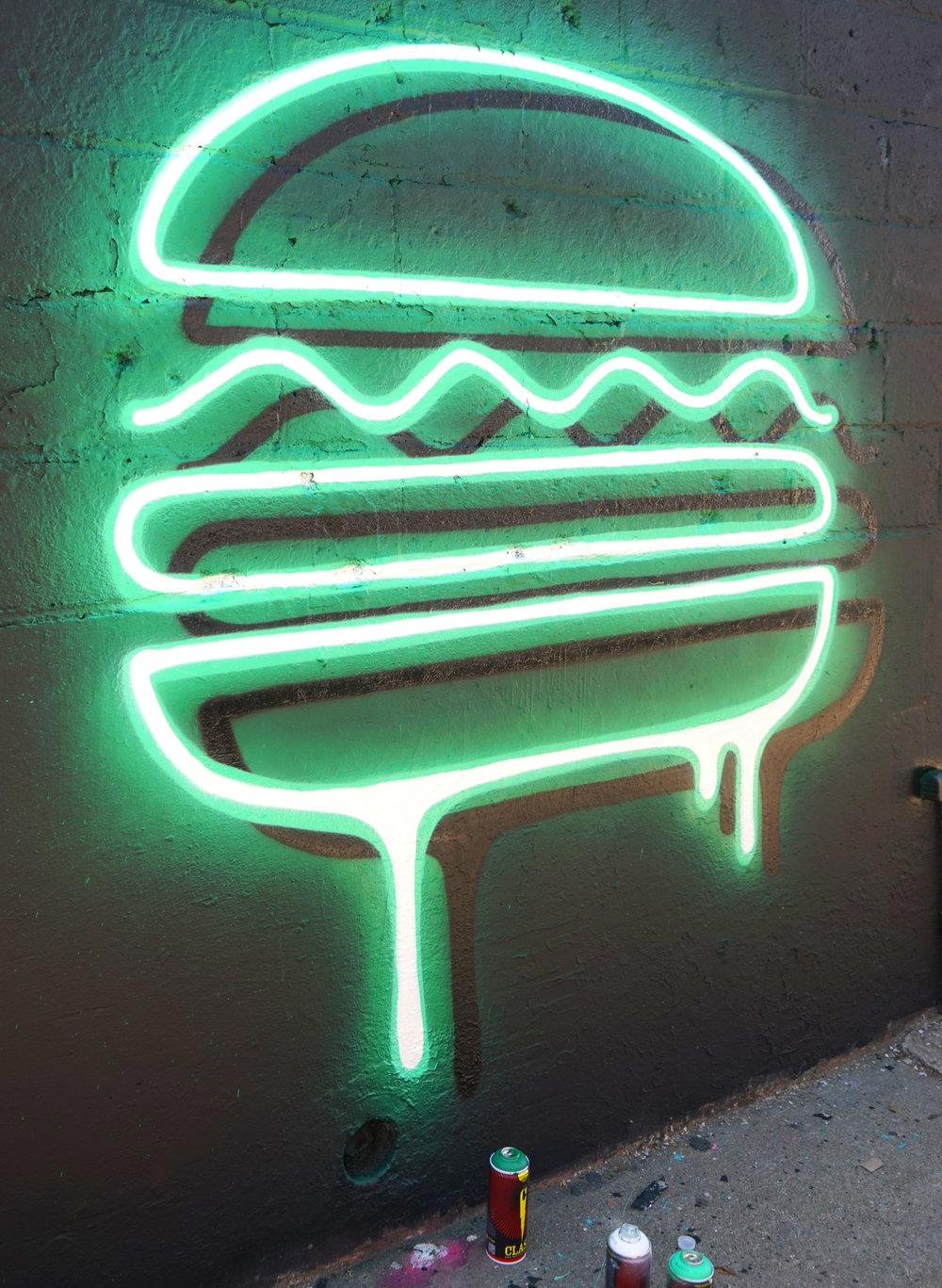 Hamburguesa de Adam Fujita
