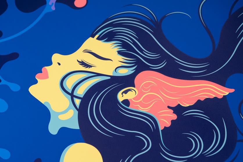 Illustrazioni e serigrafia in Siempre Playa Project de Futura