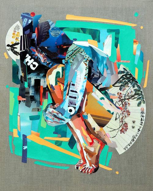 Collage Wisteria av Patrick Bremer