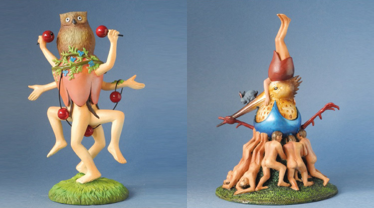 Collectible characters of El Bosco and the painting where they appear