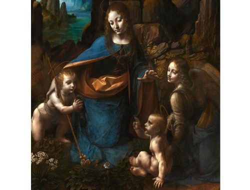 The Virgin of the Rocks van Leonardo da Vinci. wikipedia