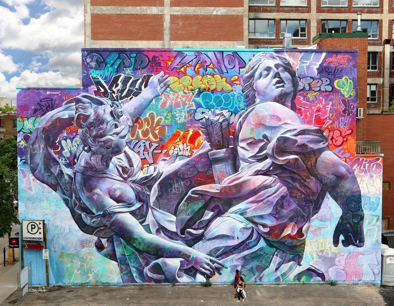 De graffitikunst van PichiAvo. Foto: PichiAvo