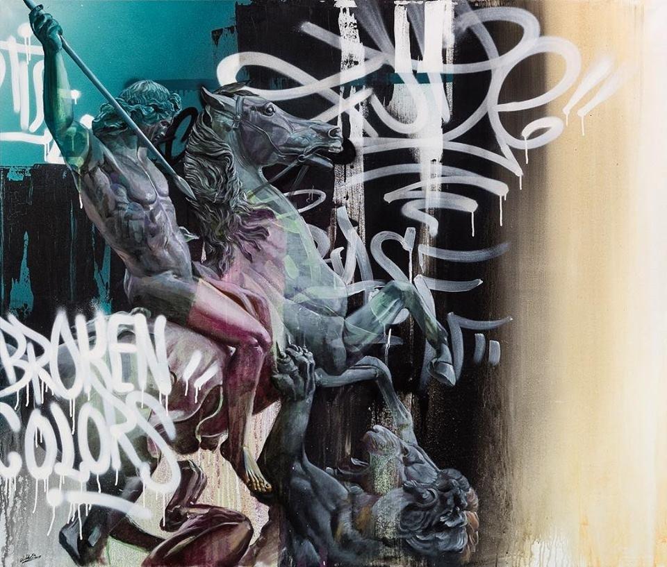 Majestueuze PichiAvo-graffiti