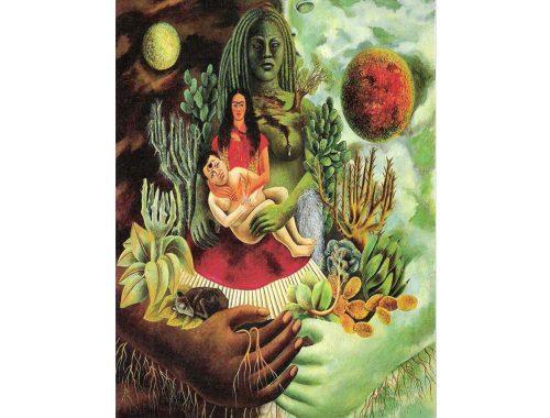फ्रिदा काहलो के ब्रह्मांड का प्यार भरा आलिंगन। फोटो: pinterest.com