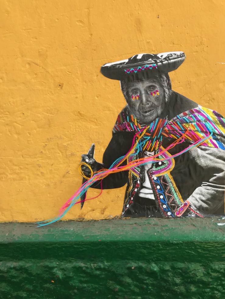 Arte di strada in Perù di Victoria Villasana. Foto: Victoria Villasana