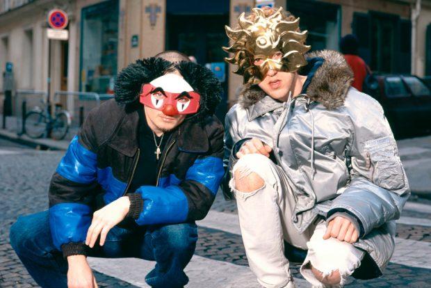 Daft Punk a Parigi con maschere