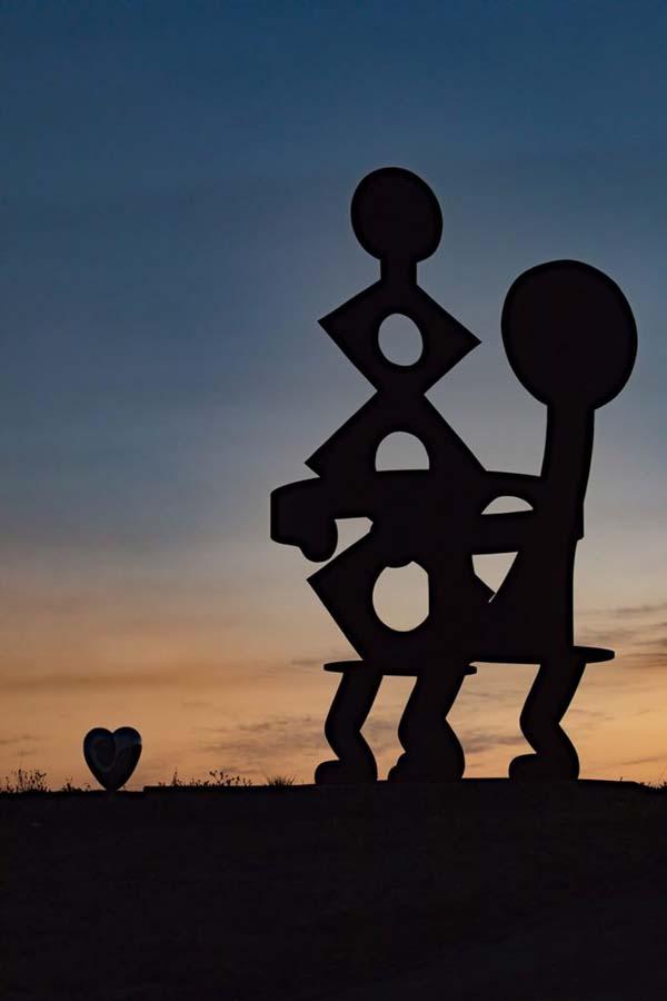 Parque de esculturas, California. Foto de: news.artnet.coms