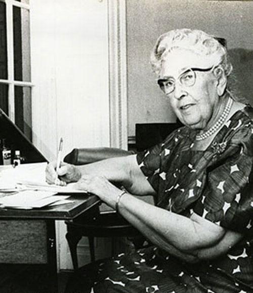 Agatha Christie en sus últimos años de vida. Foto: agathachristie.com