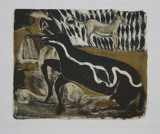 Ζωγραφική «άλογο» του Francisco Toledo (1980). Φωτογραφία: museoblaisten.com