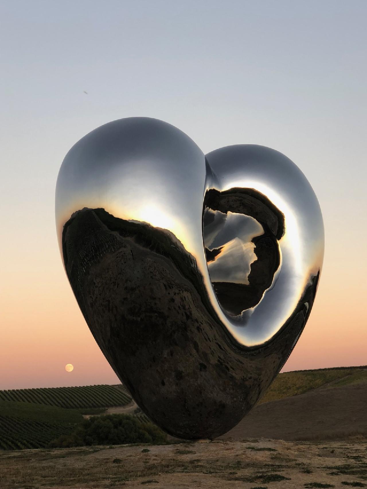 Parque de esculturas con corazón. Foto: theconversationpod.com