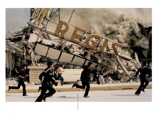 Aardbeving en fotojournalisten. Foto door: pinterest.com