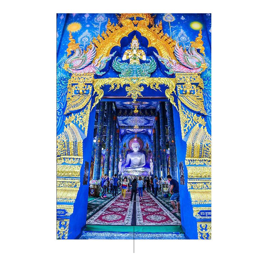 المعبد الأزرق لشيانج راي. الصورة: pinterest.com