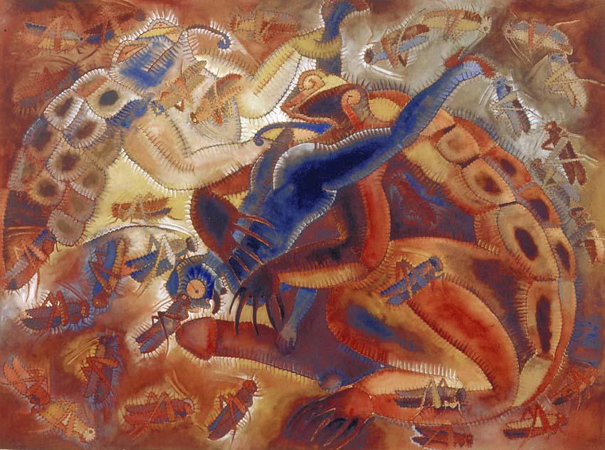 Ζωγραφική «Tamazul» του Francisco Toledo (1977). Φωτογραφία: museoblaisten.com