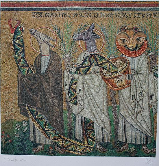 Ψηφιακοί τρείς σοφοί με προσφορά (2000). Φωτογραφία: museoblaisten.com