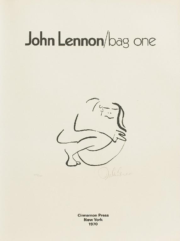 Portada de la serie de litografías Bag One