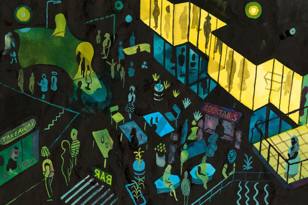 Brecht Evens, Parijs nachtzicht