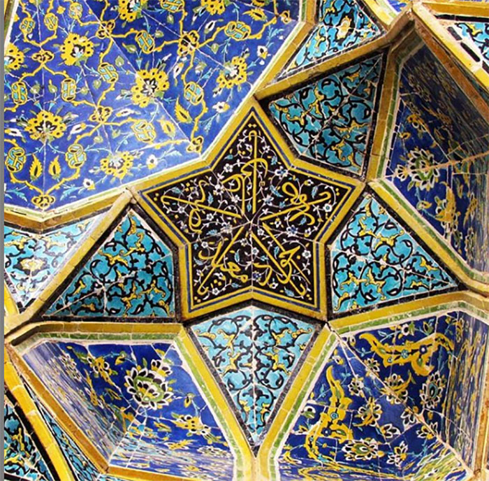 Geometria ja islam. Kuva sivustolta pinterest.com