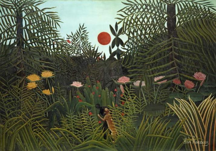 Musta Jaguarin hyökkäys, Henri Rousseau