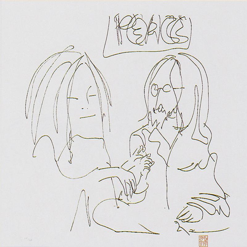 Peace, dibujo de John Lennon.
