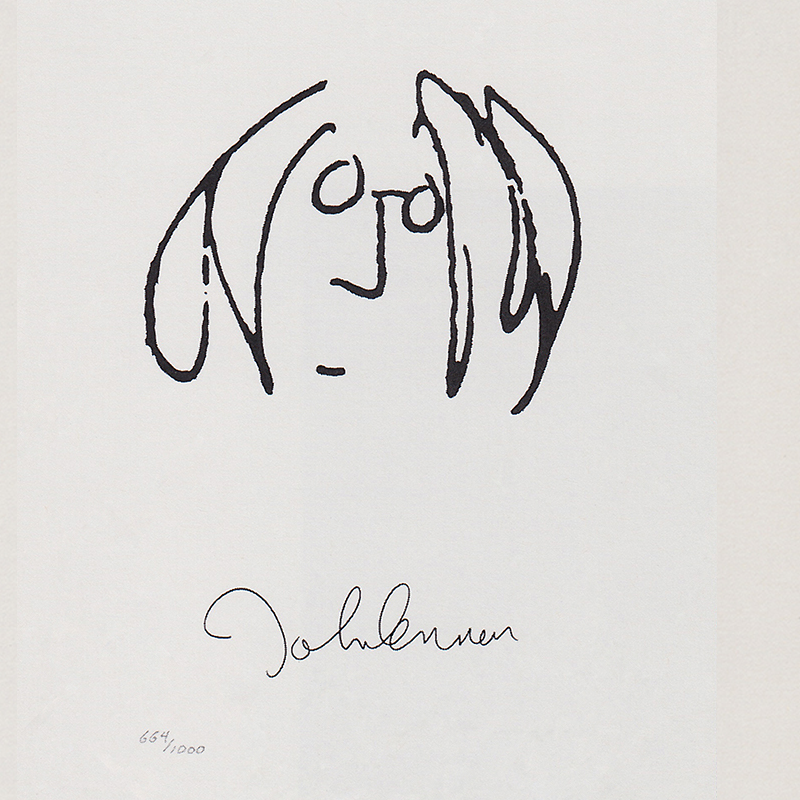 John Lennon, Autorretrato.