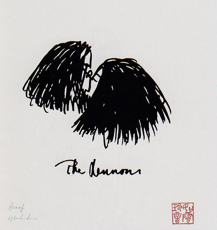 Los Lennon, dibujo de John Lennon