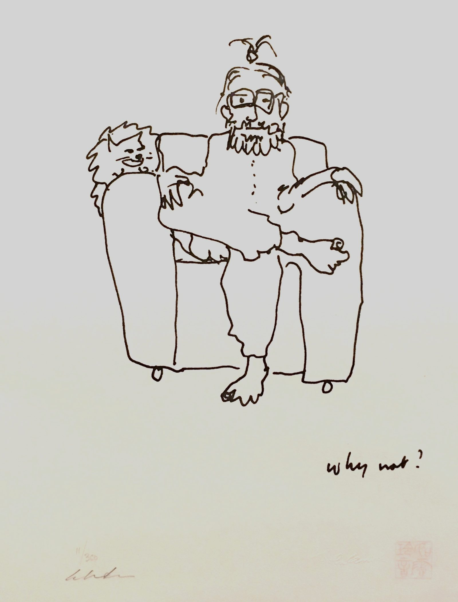Why not? dibujo de John Lennon
