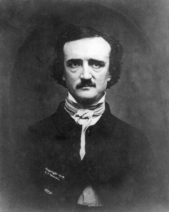 Retrato fotográfico de Edgar Allan Poe