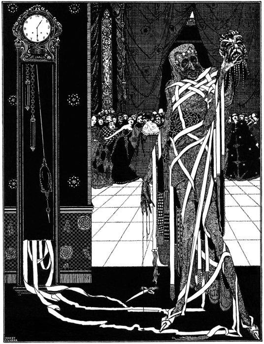 Ilustración de un cuento de Edgar Allan Poe.