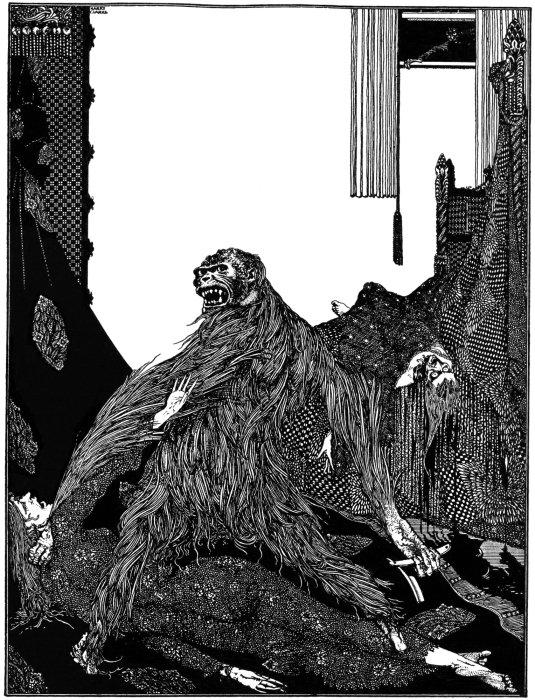 Ilustración de un cuento de Edgar Allan Poe