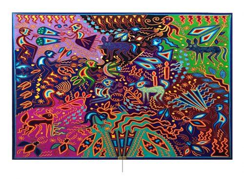 Huichol कला। फोटो: mercadolibre.com