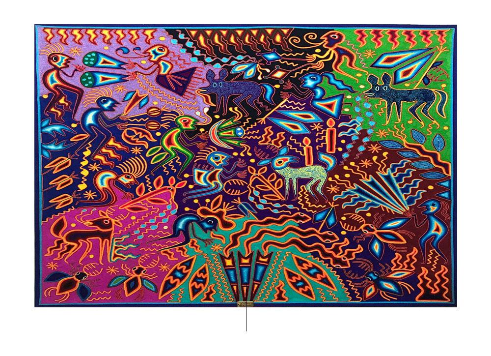 Arte huichol. foto:mercadolibre.com