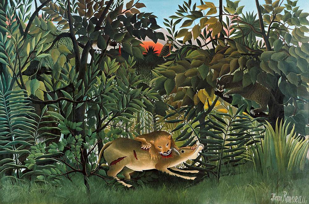 Leijona söi saaliinsa maalaamalla