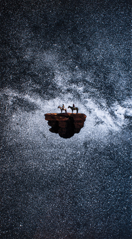 Perdu dans l'espace (Malik & Greg), collage de Guillaume Chiron, 2016.
