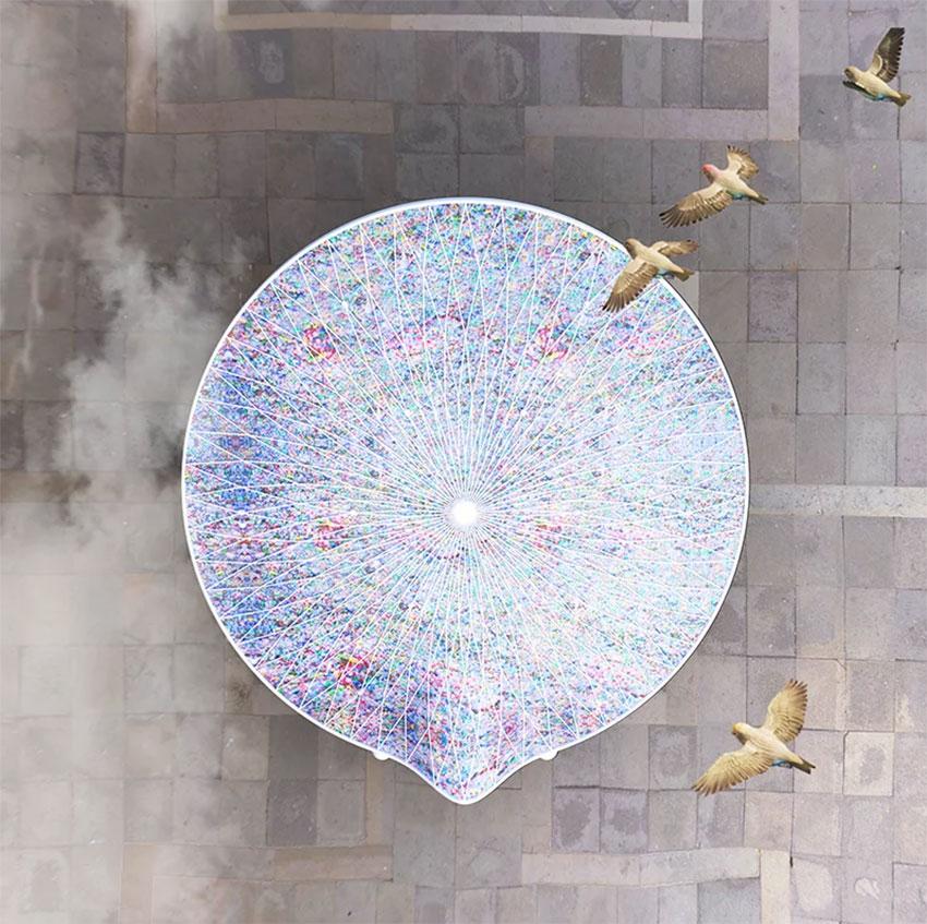 Kunststof installatie. Foto door: designboom.com