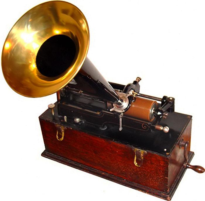 Fonografo a cilindro di cera di Casa Edison