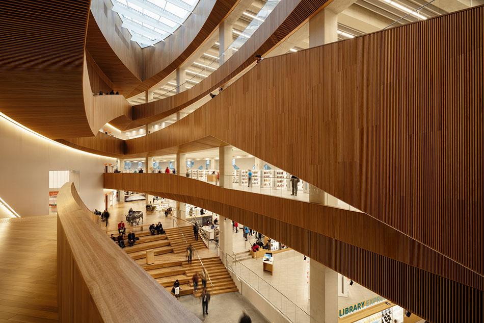 Κεντρική Βιβλιοθήκη του Κάλγκαρι. Φωτογραφία από: archdaily.com